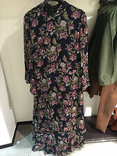 ZARA LONG DRESS WITH FLORAL PRINT BLUE XS-L  Ref.  2903/041