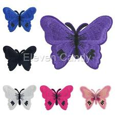 Butterfly Motif Girl Embroidered Patch Iron Sewing On Cloth DIY Applique Decor