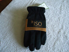 Gloves Mens Isotoner Sz X LG Black Brushed Microfiber New