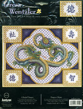New RARE Janlynn Teresa Wentzler CELESTIAL DRAGON Counted Cross Stitch kit