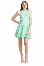 Nicola Finetti - Scallop Lace Dress | Green Floral Lace | 8 10 | Buy Now: $90