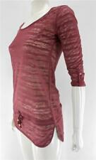 RIPCURL FREE TIME L/S TEE SHIRT TOP DUSTY ROSE BNWT 8-10-12-14 RRP $59.99
