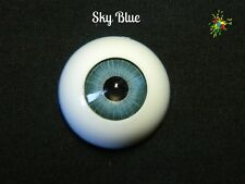 ***Sky Blue***   Realistic Half - Round Eyes in 18mm and 22mm