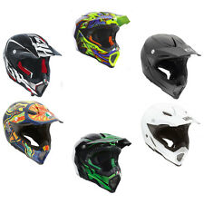 *FAST SHIPPING* AGV AX-8 EVO MOTORCYCLE DIRT OFF ROAD HELMET (Solid, Carbon....)
