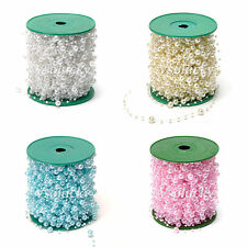 5 - 60meters Fishing Line Artificial Pearl Beads Chain ABS Garland Wedding Decor