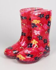 New Girl Jelly Beans Lanta PVC Floral Clear Lug Sole Rain Boot (Little /Big Kid)