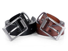 New Mens Leather Single Prong Belt Business Casual Dress Metal Buckle Fashion