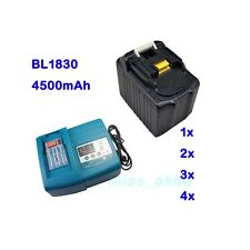 DC18RA DC18RC Charger for Makita / 18V 4.5Ah Battery BL1830 BL1845 LXT Li-Ion AU