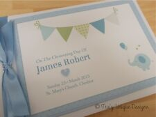 BUNTING ~ Personalised Baby Boy/Girl Christening/Baptism Photo Album/Guest Book