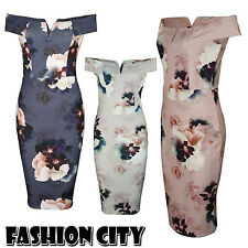New Ladies Shift Layered Dip Hem High Low Floral Print Party Floral Dresses 8-14