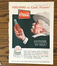 1927 The Literary Digest Drink Coca-Cola Coke Print Ad -- Refresh Yo' Self!