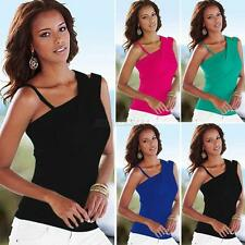Sexy Women Sleeveless Shirt Casual Blouse Crop Tops Cami Tank Clothes S M L XL