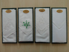 A SINGLE LADIES IRISH LINEN HANDKERCHIEF - 4 DESIGNS