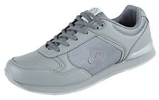Mens New Grey Lightweight Lace Up Bowling Trainers Shoes Size 6 7 8 9 10 11