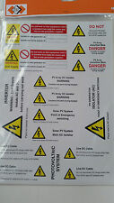 Pack of 16 Labels. Solar PV Warning Electrical Safety Stickers AC DC MCS - A4