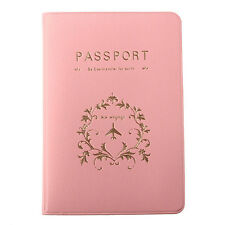 Nice Pink Travel Utility Passport Cover Holder ID Card Case Protector Skin PVC