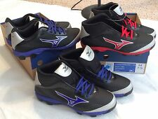 Men MIZUNO BASEBALL CLEATS 9 Spike Franchise 7 8.5 Low Mid BLACK BLUE Purple RED