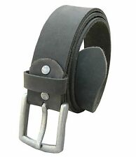 New Genuine Leather Belts black Buckle Men Waist usa wide strap real full grain