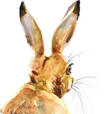 HELEN ROSE Limited Print of my HARE GLANCE original watercolour painting 170