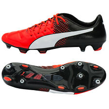 PUMA 2016 EvoPower 1.3 FG Soccer Cleats Boot Football Shoes Black/Red 103581-03