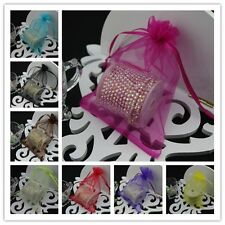 100 9x12cm Organza Bags Jewelry Gift Pouch Bags For Wedding favors,beads,jewelry