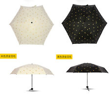 Women's Anti-UV Parasol Sun/Rain Umbrella Five-folder Pocket Umbrella Ultralight