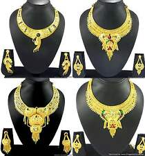 Necklace Earrings Jewelry sets Gold Plated Enamel Meena Indian Designer Jewelry