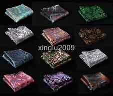 "F-PS 35 Colors Man 10"" Handkerchief Paisley Pocket Square Wedding Chest Towel"