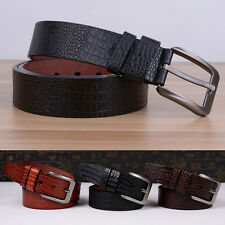 Fashion Men's Casual Waistband Faux Leather Simple Pin Buckle Belt Waist Strap