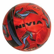 Nivia Fire Ball Machine Stitched Football Soccer Ball - 32 Panels, Red
