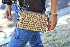 Studded Clutch Crossbody Evening Bag Designer Inspired Bling Red Black Brown