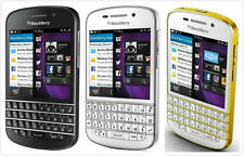 """3.1"""" BlackBerry Q10-16GB WIFI QWERTY GSM AT&T Smartphone Black/White/White&Gold"""
