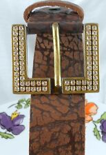 My handmade women buckle swarovski crystals RETRO style Italian belt as a GIFT Q