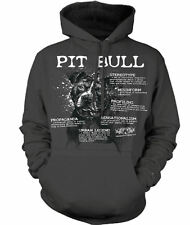 """Pit Bull """"Words"""" Adult Hoodie New"""