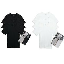 Hugo Boss 3 T Pack V Neck Shirt Cotton Men S New White Black 100 Shirts Basic
