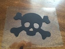 XL Party Halloween edible sugar cake toppers skull and cross bones black pirate