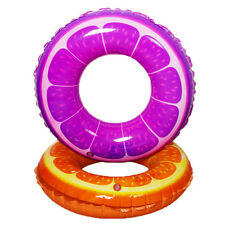 Summer Kids The oranges Inflatable Swimming Ring Slice Pool Floatie Raft 60~90CM