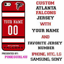 Custom ATLANTA FALCONS Phone Case Cover w Your Name & Jersey Number for  iPhone
