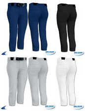 Dri-Gear Performance Womens and Girls Solid Softball Pants with Belt Loops