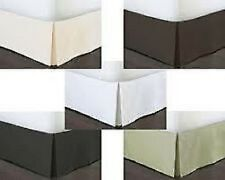 EXTRA DROP LENGTH NEW SOLID SPLIT BED SKIRT 800TC 100% COTTON CHOOSE SIZE & DROP