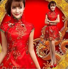 Vogue Womens Formal Evening Party Ball Gown Short Chinese Cheongsam Bridal Dress