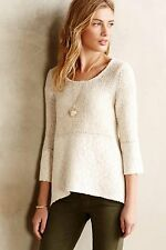 NIP Anthropologie Felted Lace Pullover by Knitted & Knotted Sz S $148