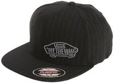 New VANS Off The Wall Men's Suiting Style FlexFit Cap | Black Pinstripes Skate