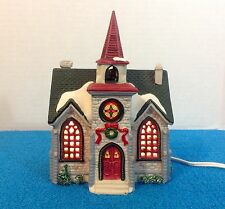 Lemax Lighted Christmas Village Houses - Caddington Village Country Church EUC