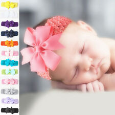 Baby Girls Toddler Lace Bowknot Headband Hair Band Headwear Accessories New