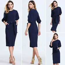 Elegant Womens Office Lady Formal Business Work Party Pencil Dress Fashion