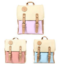 HOT Women Backpack PU Leather Rucksack College Handbag Shoulder School Book Bag