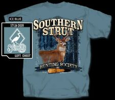 Southern Strut White Tailed Deer Buck w Antlers Rack Cotton Short Sleeve T Shirt