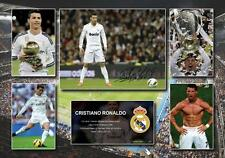 Cristiano Ronaldo Signed Real Madrid Photo Poster Memorabilia Limited Edition B
