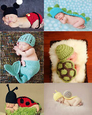 Baby Costume Photo Photography Prop Knit Crochet Beanie Animal Hat Cap Set